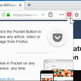 How to Remove Pocket from Firefox Quantum